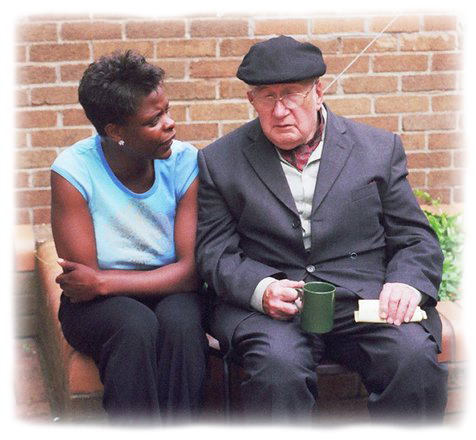 oude-man-pratend-met-vrouw